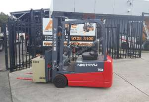 Nichiyu Electric Forklift Container Entry 4700mm Lift 1.8 Ton 48V Battery Refurbished