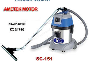TCS Commercial 15L Wet & Dry Vacuum Cleaner with 1000W Ametek Motors SC-151
