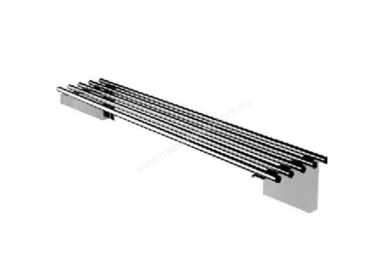 Simply Stainless SS11.2400 Piped Wall Shelf - 2400mm