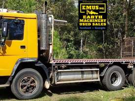 Volvo FL7 Flat Bed 6x4 with 4ton Crane & GPS.  - picture0' - Click to enlarge