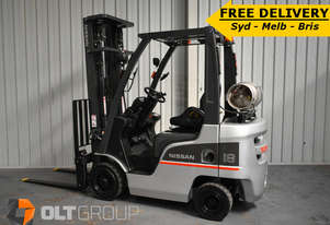 Nissan P1F1A18DU 1.8 Tonne 5500mm Lift Height 3 Stage Mast Forklift