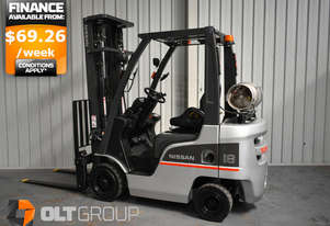 Nissan P1F1A18DU 1.8 Tonne 5500mm Lift Height 3 Stage Mast Forklift REDUCED