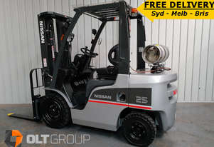 Nissan 2.5 Tonne Forklift Container Mast New Steer Tyres FREE DELIVERY SYD MELB BRIS