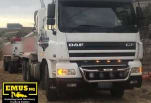 2004 DAF CF-85 Tipper & Tipper Dog Trailer. TS452