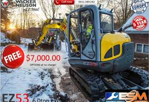 6ton Excavator with $7,000 of options FREE.