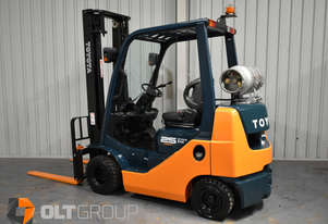 Toyota 2.5 Tonne Compact Forklift Current Model LPG Solid Tyres Low Hours Sydney Melbourne
