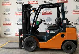 Toyota Forklift 8FG25. Newly painted and mechanically sound.