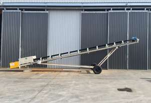 NEW M&Q 600W X 12M RADIAL STACKING CONVEYOR AVAILABLE FOR HIRE OR PURCHASE