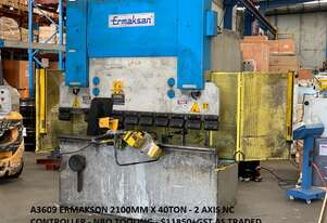 Just In - Quick Sale - ERMAK 2000mm x 50Ton NC Pressbrake