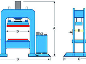 310Ton H Frame Heavy Duty Hydraulic Platen Press - picture0' - Click to enlarge