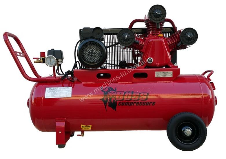 BOSS 18 CFM/ 3HP AIR COMPRESSORS (100L TANK)
