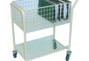 Mail File Trolley 2 Shelf
