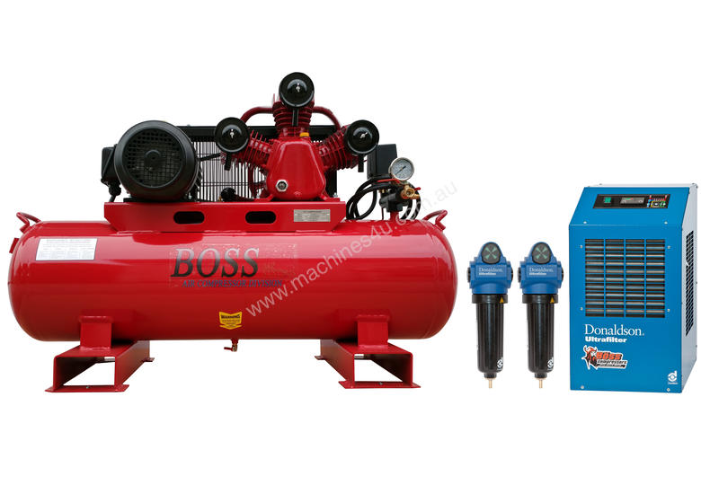 BOSS 20CFM Compressor with Dryer & Filter Package