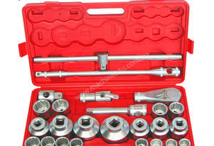 74050 - 26 PC 3/4'' & 1'' SQ. DR. SOCKET SET METRIC