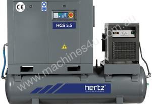 5.5kW Hertz Rotary Screw Compressor w/ Dryer & Fil