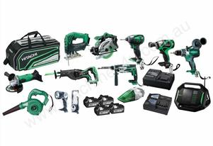 HITACHI 13 PIECE 18V 6.0AH SLIDE COMBO SMPS18(HA)