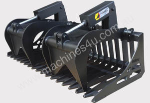 NEW HIGH QUALITY SKID STEER ROUND BAR RAKE GRAPPLE BUCKET