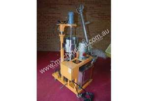 Submersible pump with feed hopper, agitator & s/s tank,
