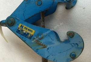 Beam Girder Clamp 3 Ton Nobles Rigmate for Block & Tackle Lifting Mount