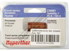 220997 Hypertherm 125A Swirl Ring  (Pack of 1) - picture3' - Click to enlarge