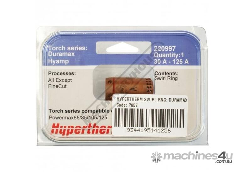 220997 Hypertherm 125A Swirl Ring  (Pack of 1)