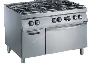 SAVE $5351 Zanussi 6 Burner (2x 10 kW, 4x 6 kW) Gas Range with Cupboard EVO900 (900mm D) Z9GCGL6S10