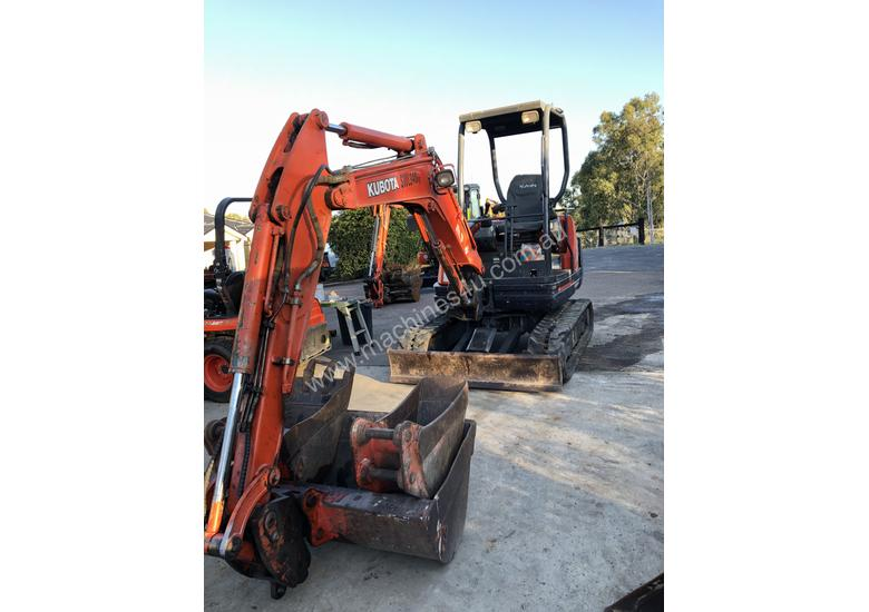 SOLD--Kubota KX71-3 2.8Tonne Rubber Tracked, Hyd Quick Hitch, 1200mm Mud, 600mm Bucket