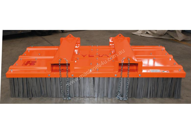 Italian made Forklift Broom with Steel Brushes
