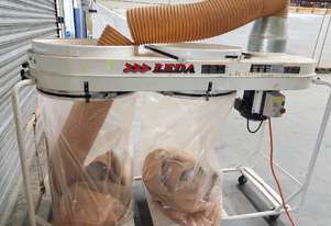 LEDA TWIN BAG DUST EXTRACTOR SFV-005, In-Line Design, 5hp 415v, Mobile, SPECIAL PRICE $ 990 Incl GST