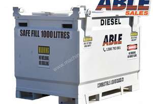Able Fuel Cube Bunded 1100 Litre (Safe Fill 1000 Litre)