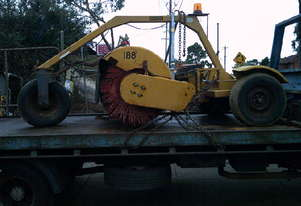 sweepster tow behind broom , ex council , 95% broom