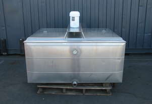 Jacketed Stainless Steel Tank Milk Vat - 950L - Dairy Kold 200DX