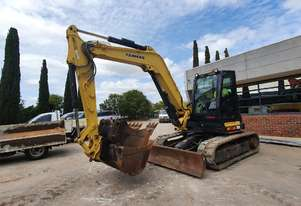 2016 YANMAR SV100-2 EXCAVATOR WITH CAB, HITCH, BUCKETS AND LOW 905 HOURS