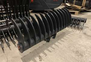 Roo Attachments - Stick Rake 1000mm Wide to Suit 1.5-1.8 Ton Excavator