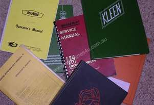 METAL WORKING MACHINERY, WORKSHOP MANUALS.