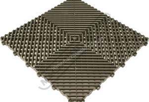 Black Industrial Flooring Tiles - Workshop QTY 25 Per Pack Covers 4 Square Metres