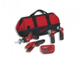Milwaukee M12 4 Piece Li-Ion Combo Kit