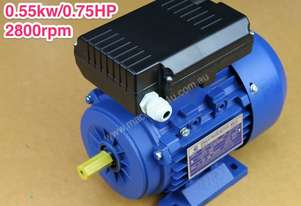 0.55kw/0.75HP 2800rpm14mmshaft motor single-phase
