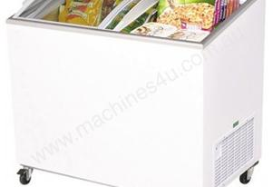 Bromic CF0300ATCG Angled Glass Top 264L Chest Freezer