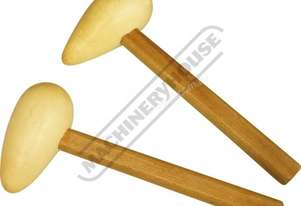 WBH-2 Hard Maple Wood Bossing Mallet Set - Radius Ends