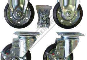 WK-4 Wheel Kit - Ø125mm 2 x Swivel & 2 x Fixed Wheels Suits All Industrial Tooling Cabinets