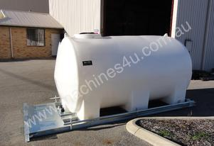 10,000 LITRE POLY TANK WITH GALV SKID FRAME