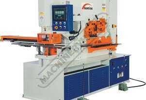 IWNC-80SD Hydraulic Punch & Shear with NC Table - 80 Tonne Dual Hydraulic Cylinders with Independent