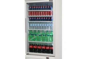 Bromic GM0660L Upright Chiller / Fridge Single Glass door (White)