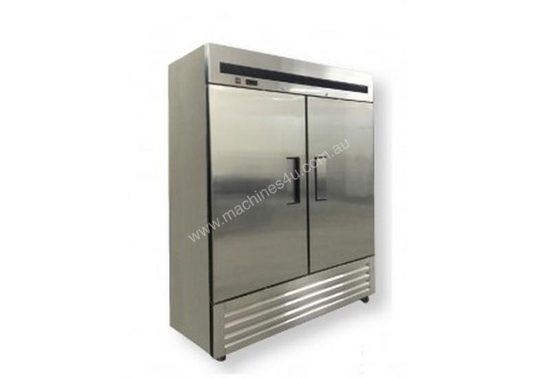 F.E.D. - FED1400SC4B - Double Door Stainless Steel Upright Fridge with Bottom Units