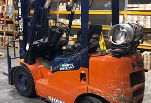 HELI 2.5T LPG CONTAINER ENTRY FORKLIFT - LOW HOURS