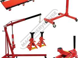 ALP-1 Automotive Lifting Garage Package Deal  Includes 1T Engine Crane, 450kg Engine Stand, 2T Troll - picture0' - Click to enlarge