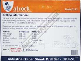 D122 Metric 2MT HSS Drill Set Ø14.5-Ø23mm 10 Piece - picture5' - Click to enlarge