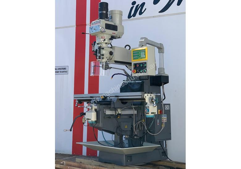 SM-KD4VS - ISO 40 - Industrial Turret Milling Machine With Power Draw Bar