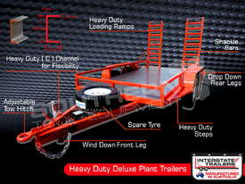 Plant Trailer 4.5 TON ATM 4500kg Deluxe suit Excavators ATTPT - picture2' - Click to enlarge